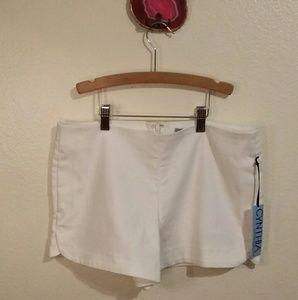 NWT Cynthia Rowley white shorts